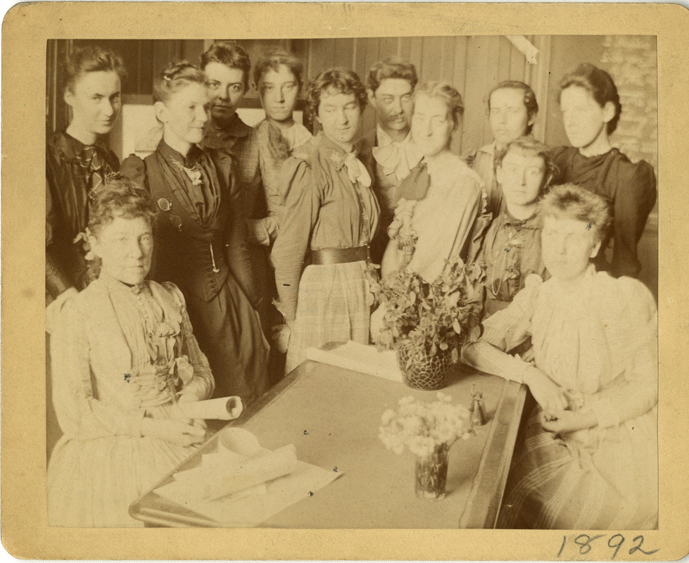 Group of students with faculty