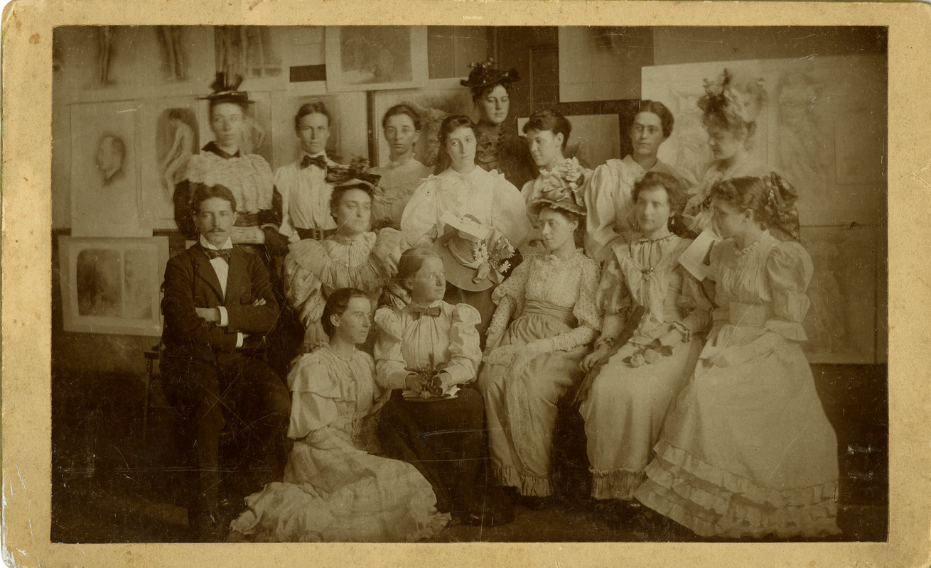 Students with faculty after graduation of 1894