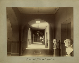 Second floor corridor, Newbury Street Campus