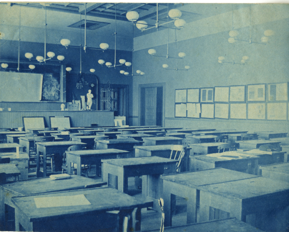 Classroom A, lecture room. Newbury Street Campus