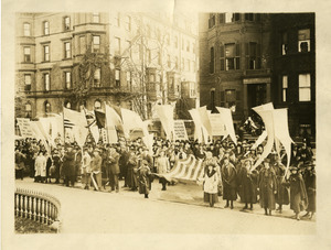 Armistice Day march in Back Bay