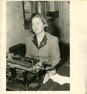 Student at typewritter