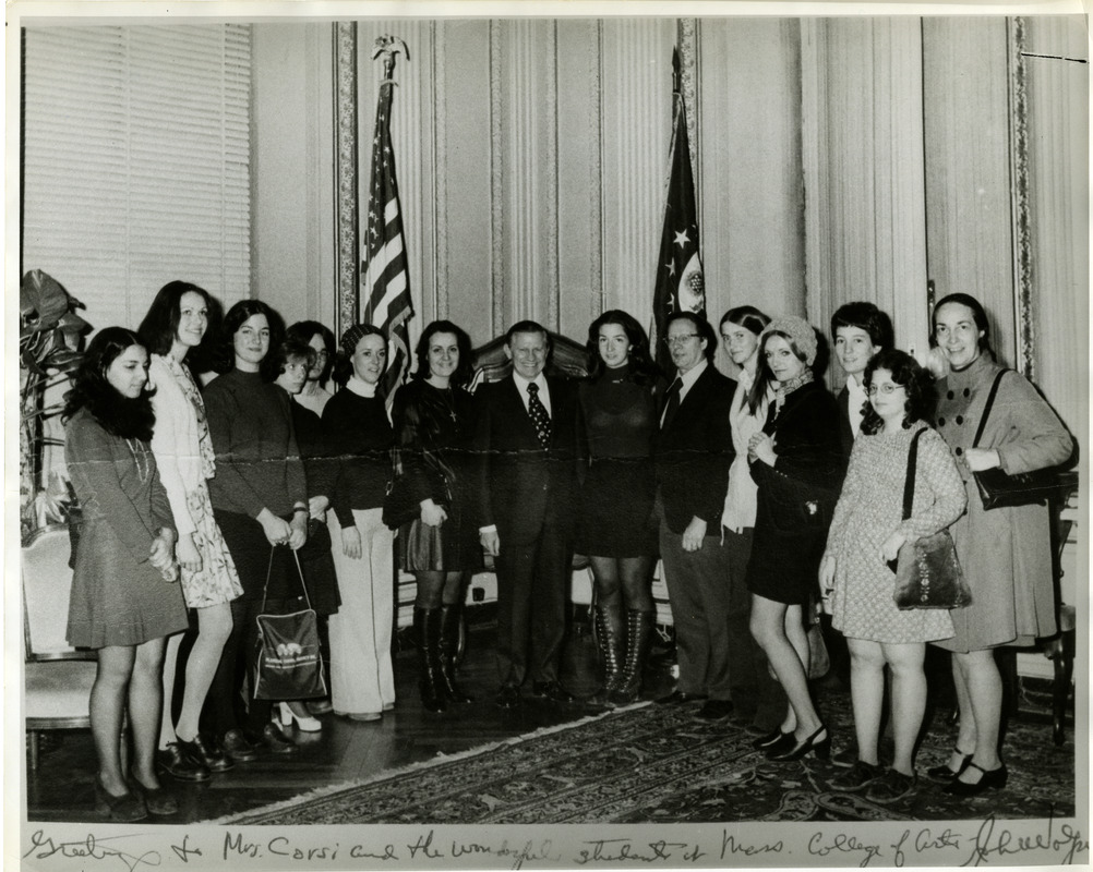 Student group at the US Embassy in Rome