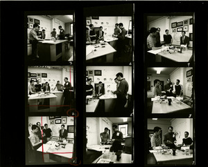Contact sheet of students in design class