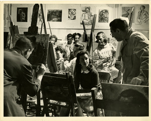 Lawrence Kupferman teaching painting class