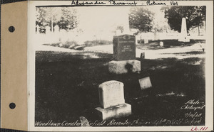 Alexander Theroux, Woodlawn Cemetery, old section, lot 75, Enfield, Mass., Sept. 10, 1928