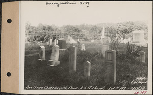 A. A. Richards, Pine Grove Cemetery, lot 192, North Dana, Mass., Sept. 27, 1928