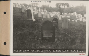 Abbott, Church Cemetery, lot 71, Enfield, Mass., ca. 1930-1931