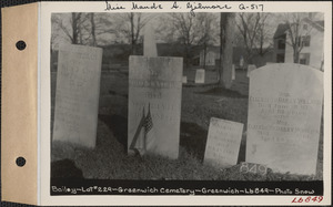 Bailey, Greenwich Cemetery, Old section, lot 229, Greenwich, Mass., ca. 1930-1931