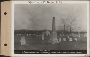 Alden, Greenwich Cemetery, Old section, lot 372, Greenwich, Mass., ca. 1930-1931