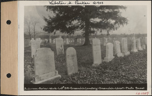 Anderson - Parker - Work, Greenwich Cemetery, Old section, lot 319, Greenwich Mass., ca. 1930-1931