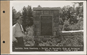 Massachusetts Metropolitan District Water Supply Commission, Quabbin Reservoir, Photographs of Cemeteries, 1928-1945