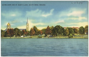 Notre Dame and St. Mary's Lake, South Bend, Indiana