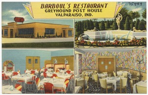 Barboul's Restaurant, Greyhound Post House, Valparaiso, Ind.