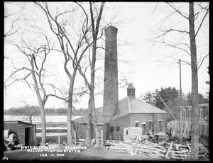Distribution Department, Malden Pumping Station, eastern shore north of Melrose Pumping Station, Stoneham, Mass., Jan. 13, 1898