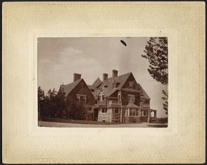 View of large house, Queen Anne style architecture