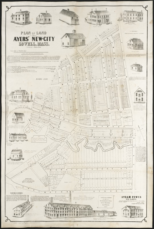 Plan of land in Ayers' New-City, Lowell, Mass