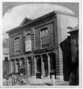 Central Hall, Main Street, built by A. McMaster in 1872. Demolished in 1913.
