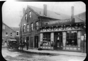 Hackett Brothers store on the Delta in Watertown Square before 1905.