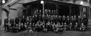 Young Men's Assembly at the home of Albert O. Davidson, manger of Aetna Mills.