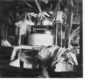 Interior of Grist Mill.