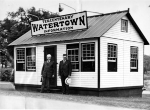 Watertown Tercentenary Information booth, Watertown Square.