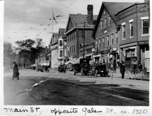 View of Main Street, opposite Galen Street.