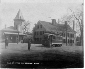 Watertown Square streetcar station.