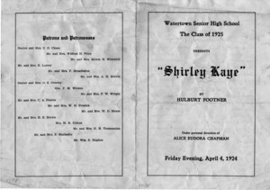 Class of 1925 play.