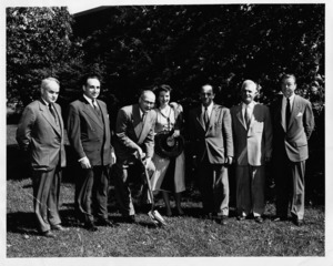 Groundbreaking for 1955 addition.