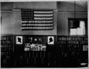 Interior of East Branch Library, circa 1950's.