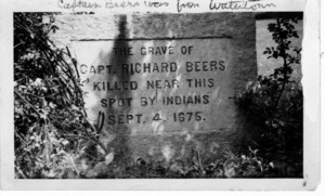 Grave of Capt. Richard Beers of Fresh Pond.