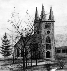 Sketch of the First Parish Meeting House.