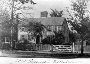 First Parish Parsonage on Mount Auburn Street - exterior view.