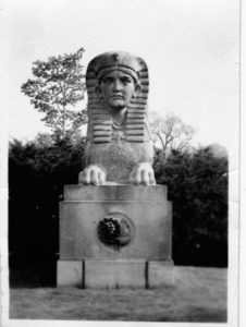 Civil War Commemorative Sphinx at Mount Auburn Cemetery.