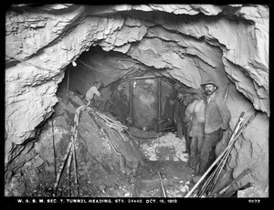 Distribution Department, Weston Aqueduct Supply Mains, Section 7, tunnel heading, station 24+40, Newton, Mass., Oct. 19, 1910