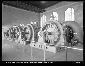 Wachusett Dam, Hydroelectric Power Plant, view of the four electric generators, Clinton, Mass., Feb. 11, 1912