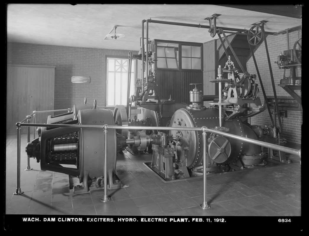 Wachusett Dam, Hydroelectric Power Plant, exciters, Clinton, Mass., Feb. 11, 1912