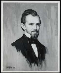 Oil painting of Dr. George Faulkner