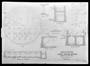 Engineering Plans, Clinton Sewerage, Section 2, Reservoir and Pump Wells, Clinton, Mass., Sep. 20, 1898
