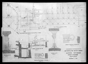 Engineering Plans, Clinton Sewerage, piping in reservoir, Clinton, Mass., Nov, 4, 1898