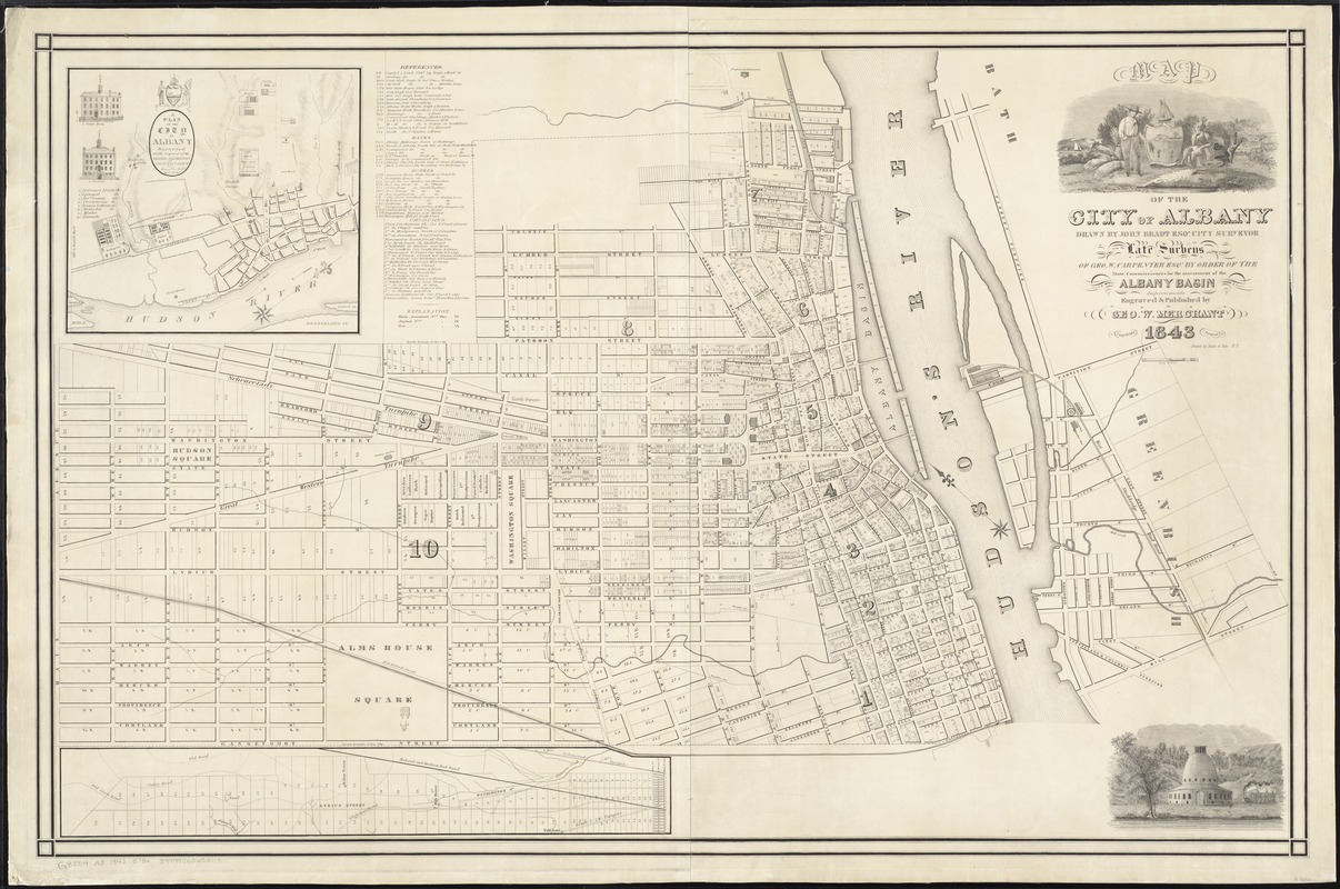Map of the city of Albany