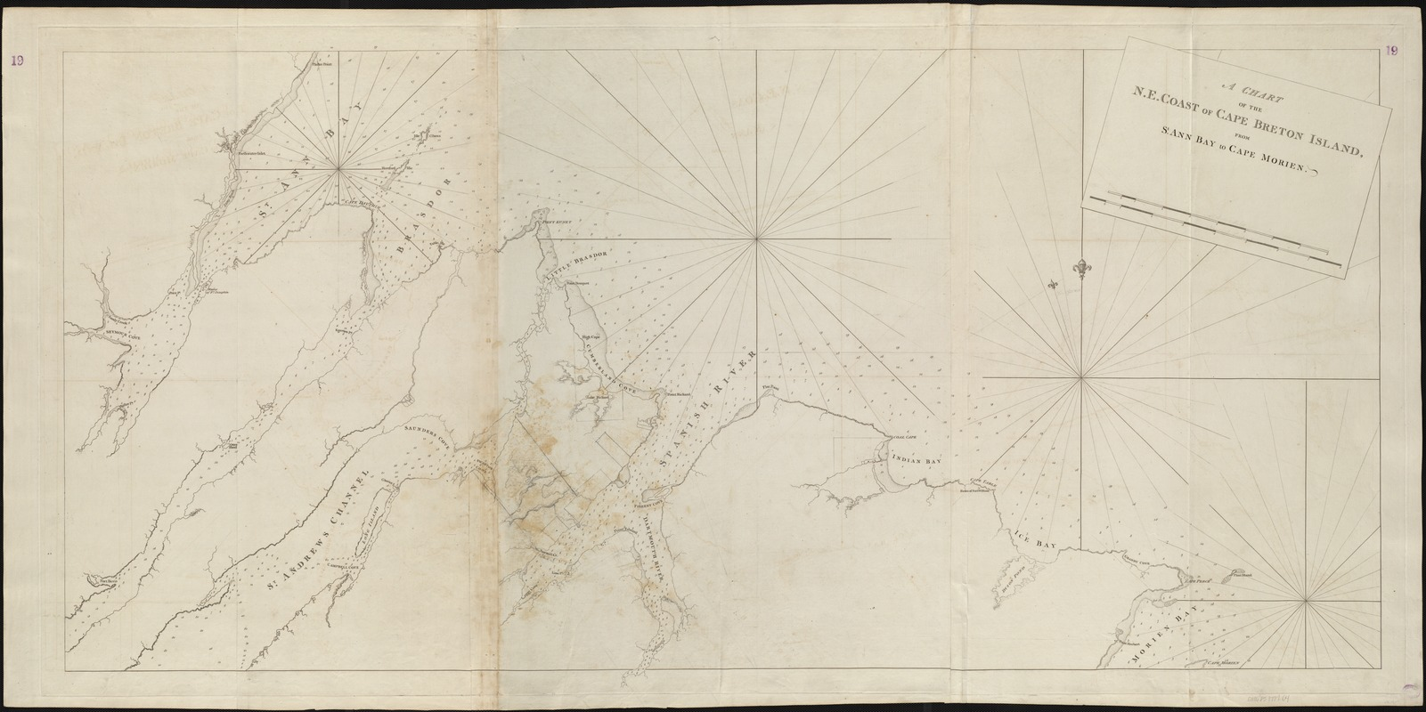 A chart of the N.E. coast of Cape Breton Island, from St. Ann Bay to Cape Morien