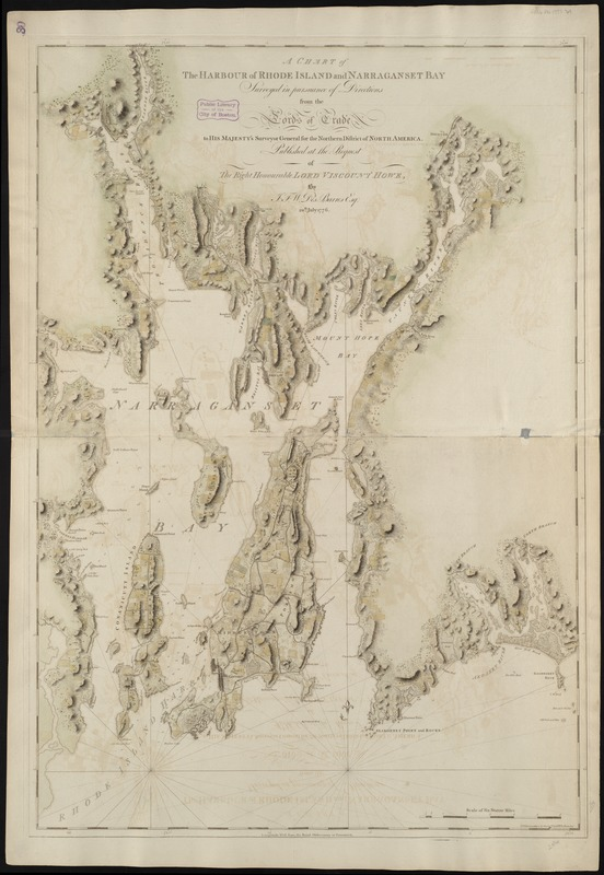 A chart of the harbour of Rhode Island and Narraganset Bay