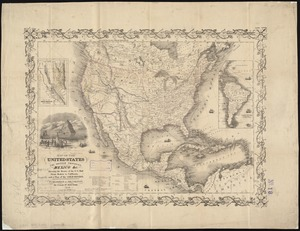 Map of the United States, the British provinces, Mexico, &c