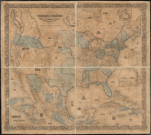 Colton's map of the United States of America, the British provinces, Mexico and the West Indies