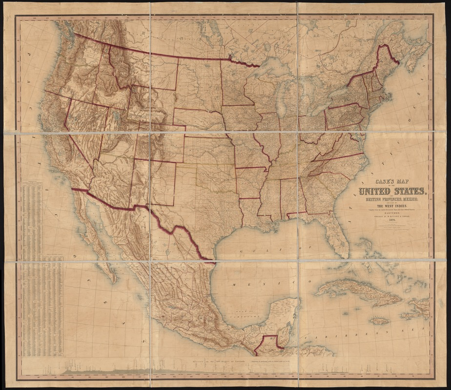 Case's map of the United States, the British provinces, Mexico, and part of the West Indies