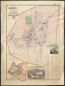 Plan of the city of Meriden, New Haven Co., Conn. from actual surveys