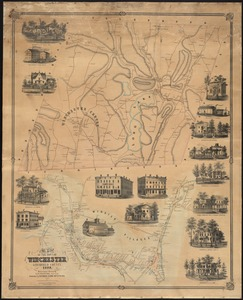 Map of the town of Winchester, Litchfield County, Conn