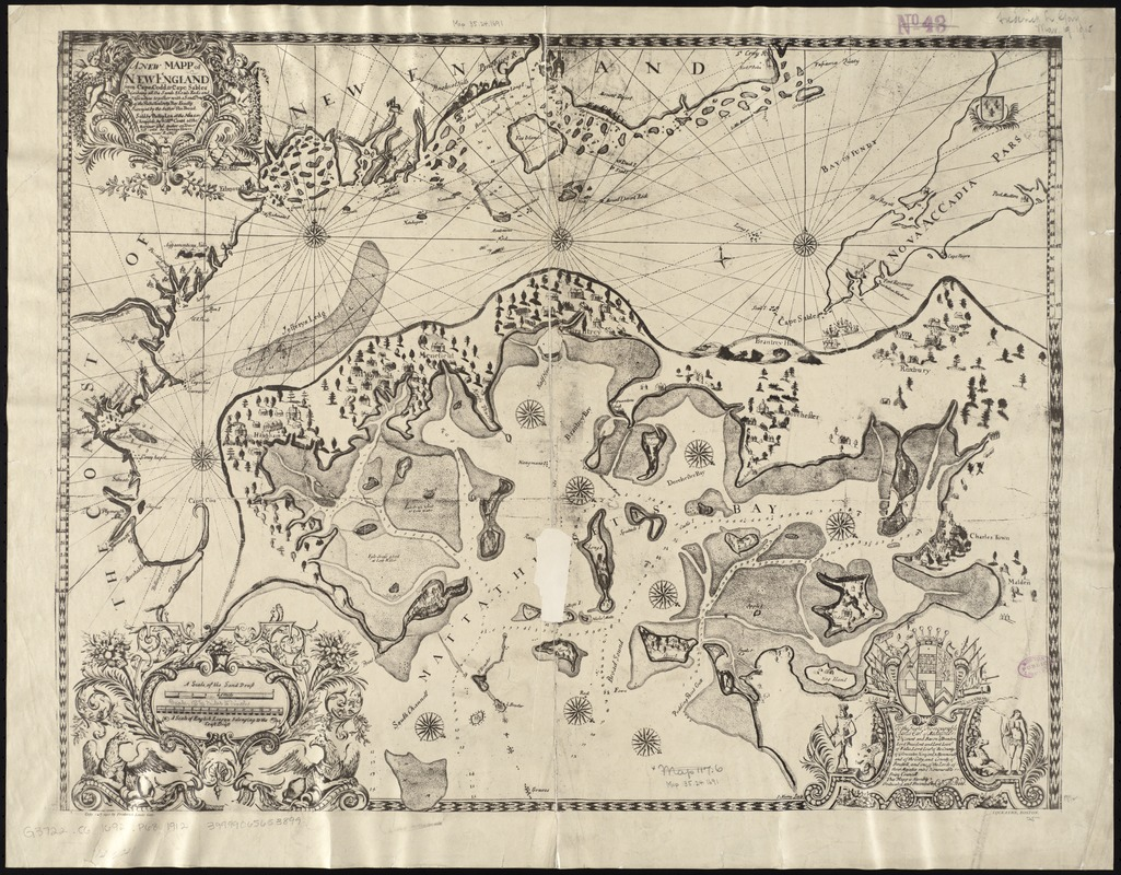 A new mapp of New England from Cape Codd to Cape Sables